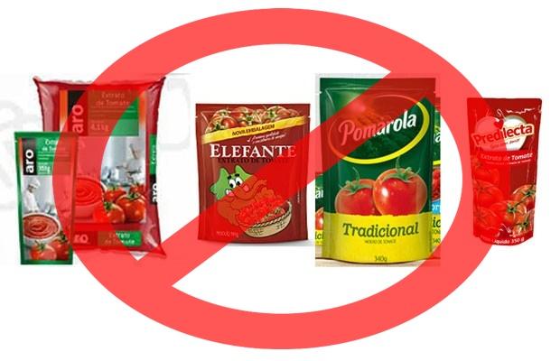 Ratos encontrados em produtos de tomate